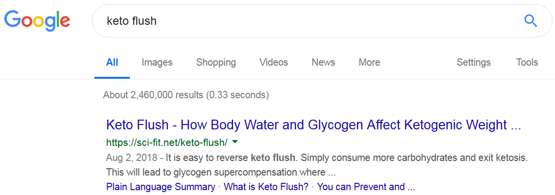 Google keto flush sci-fit